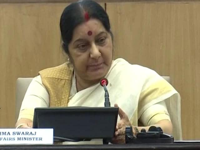 Video : Security Of Indians Living Abroad Top Priority, Says Sushma Swaraj