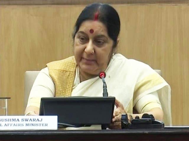 Video : Neither Pressure Nor Money: Sushma Swaraj Counters Trump's Accusations