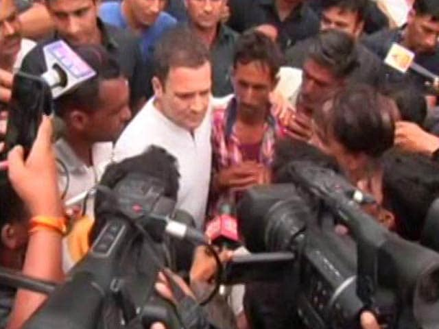 Video : In 'Jail', Rahul Gandhi Speaks To Families Of Farmers Killed In Mandsaur