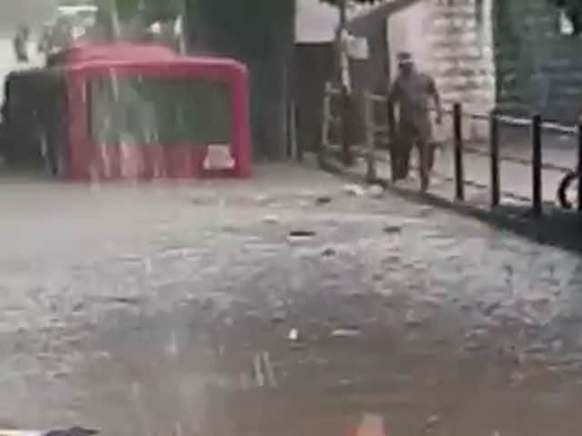 Video : Caught On Camera: Bus Trapped In Waterlogged Underpass In Surat