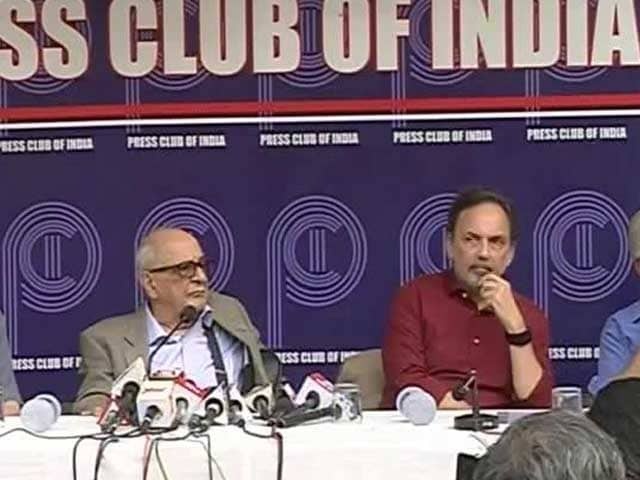Video : Press Club Of India Meets On Raids On NDTV