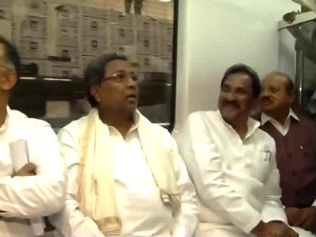 Video : Ahead Of Inauguration, Karnataka Chief Minister Checks Out New Metro Line