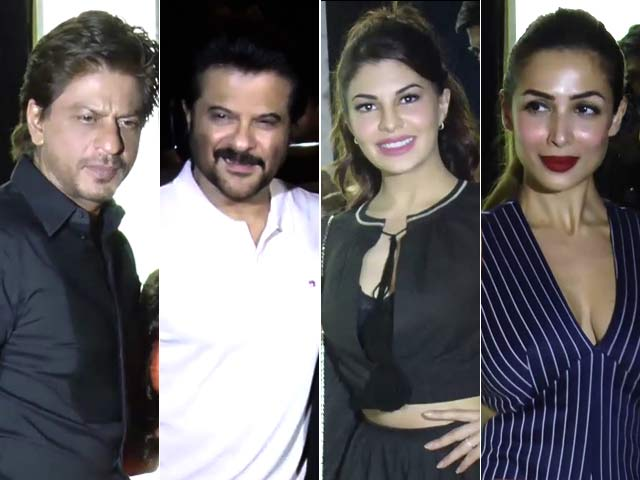 Shah Rukh Khan And Other B-Town Stars At A Restaurant Opening In Mumbai