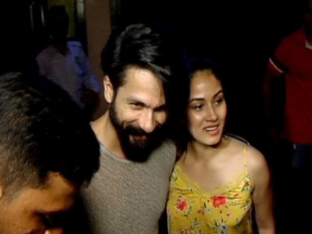 Video : Shahid Kapoor's Dinner Date With Wife Mira Rajput