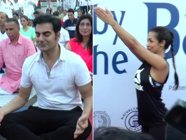 Exes Malaika And Arbaaz Roll Out Yoga Mats