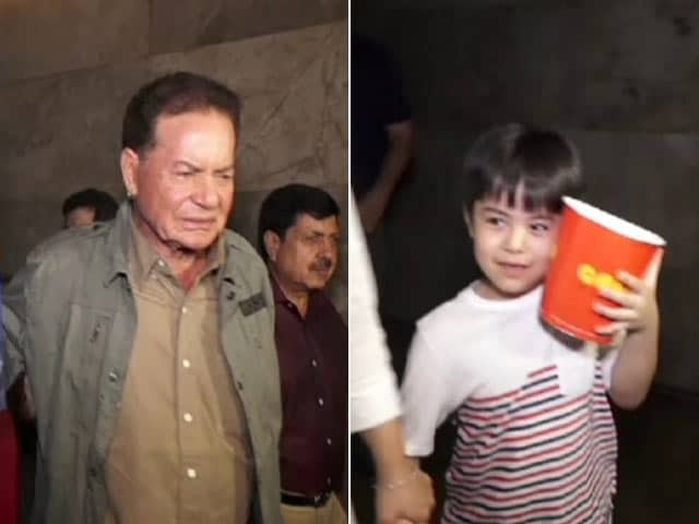 Video : Child Actor Matin Rey Tangu Watches <i>Tubelight</i> With Salim Khan