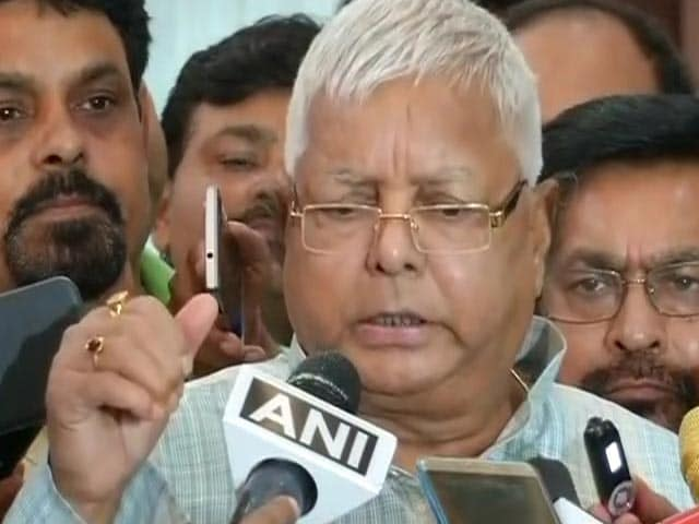 Nitish Kumar, Come Back, Support Meira Kumar For President: Lalu Yadav