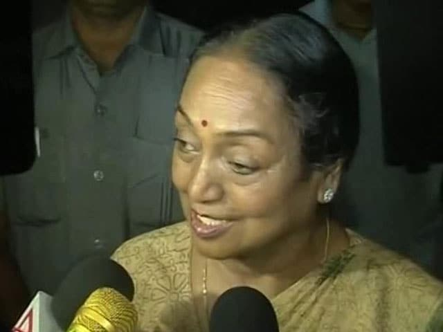 Video: Want To Express My Gratitude To Congress President, Opposition: Meira Kumar