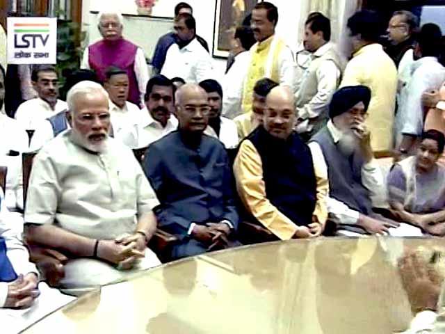Video : पीएम मोदी, शाह और आडवाणी की मौजूदगी में रामनाथ कोविंद ने किया नामांकन