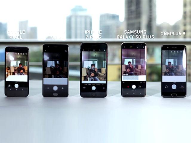 Video : OnePlus 5 vs iPhone 7 Plus, Samsung S8, OnePlus 3T, Google Pixel