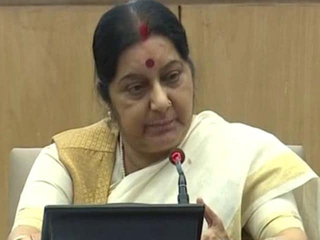 Video : With Video Of Her Speaker Days, Sushma Swaraj Targets Meira Kumar