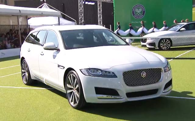 Andy Murray Launches Jaguar XF Sportbrake