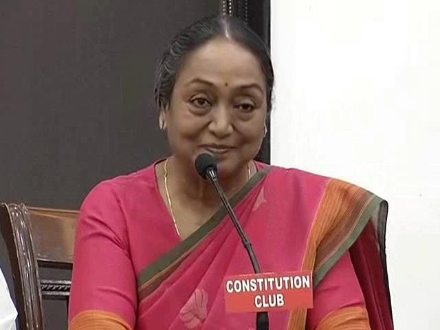 Video: Believe In Social Justice, Freedom Of Press, Says Meira Kumar