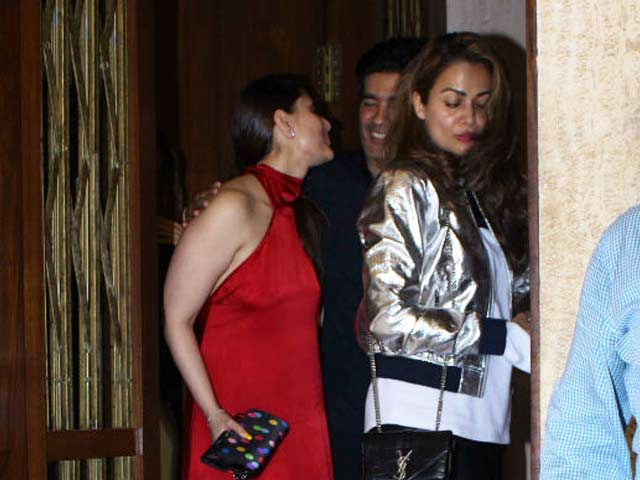 Karan Johar, Kareena Kapoor Khan & Other Celebs At Manish Malhotra's Party