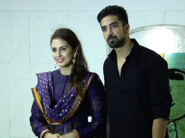 Huma Qureshi & Saqib Saleem At Post Eid Dinner