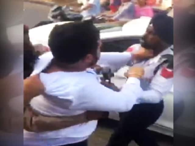 Video : On Camera, Man Slaps Punjab Cop For Stopping His BMW. Video Is Viral