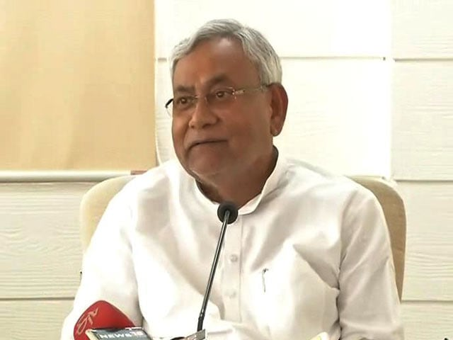 Video : Nitish Kumar Follows Up Attack On Congress By Saying 'Offer An Agenda'