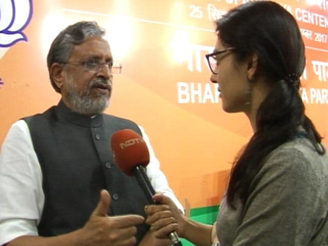 Video : 'Lalu Yadav Is Bihar's Robert Vadra': BJP Leader Sushil Modi's Jibe