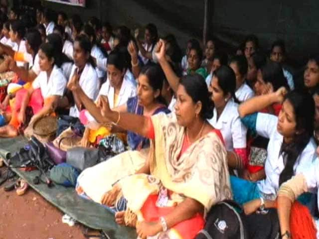 Video : 5,000 Nurses In Private Hospitals Strike In Kerala, Demand Wage Revision