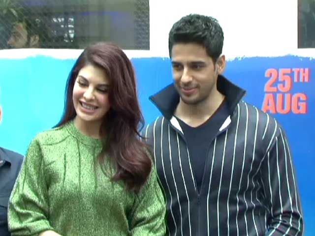 Jacqueline And Sidharth At The Trailer Preview of A Gentleman