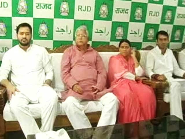 Video : Lalu's Party Decides Son Tejashwi Won't Quit Despite Corruption Charges