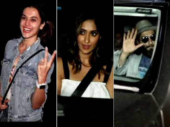 Video : Ranveer, Taapsee, Ileana Spotted At A Dubbing Studio