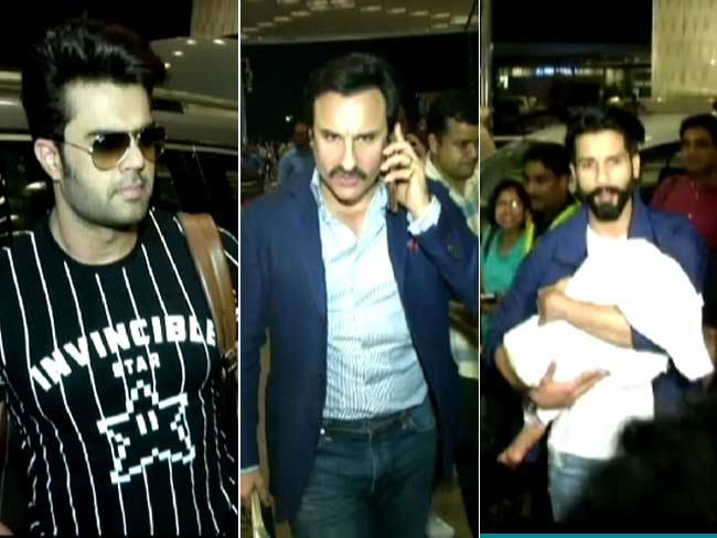 Video : Saif, Shahid And Other Stars Leave For IIFA