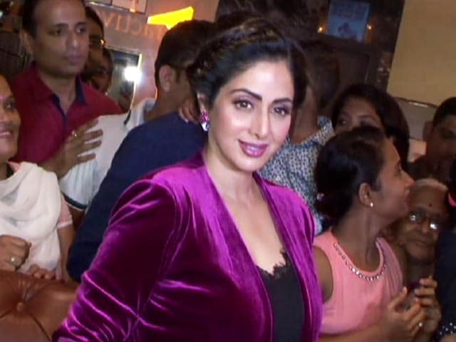 Sridevi Interacts With Fans At A Special Screening Of MOM