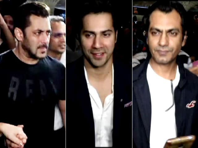 Video : Salman Khan, Varun Dhawan & Nawazuddin Siddiqui Leave For IIFA