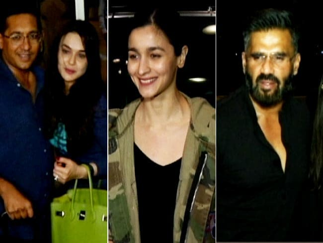 Alia Bhatt, Preity Zinta and Suniel Shetty Leave For IIFA Awards