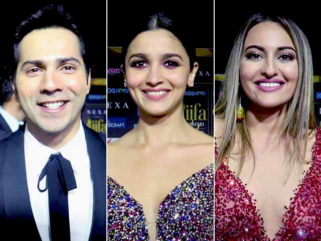 Video : Varun Dhawan, Alia Bhatt And Sonakshi Sinha At IIFA Awards Green Carpet