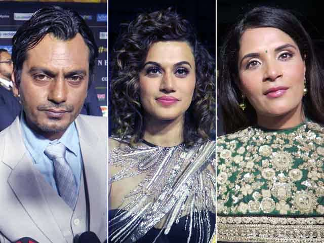 Nawazuddin Siddiqui, Taapsee Pannu, Richa Chadha At IIFA Awards Green Carpet