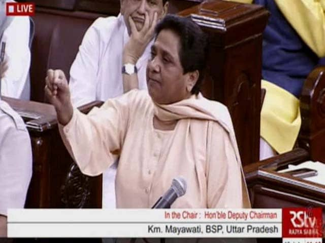 Video : Mayawati Says Will Quit If Not Allowed To Speak In Parliament, Storms Out