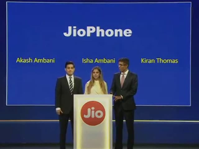 Video : Mukesh Ambani Launches Jio 4G VoLTE Feature Phone at Reliance AGM