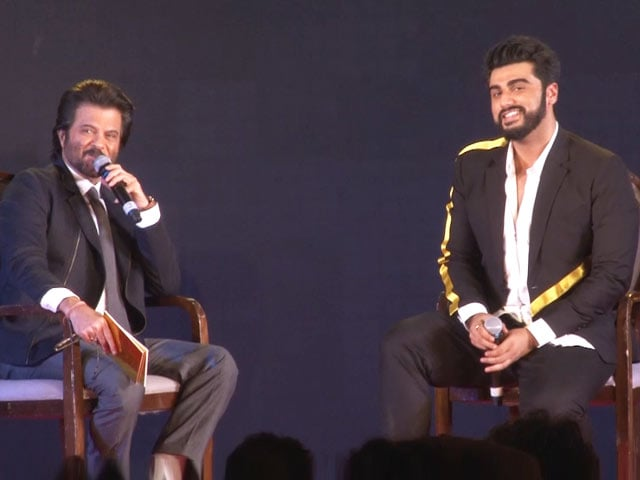 Anil Kapoor And Arjun Kapoor's Q&A At Mubarakan Sangeet Night