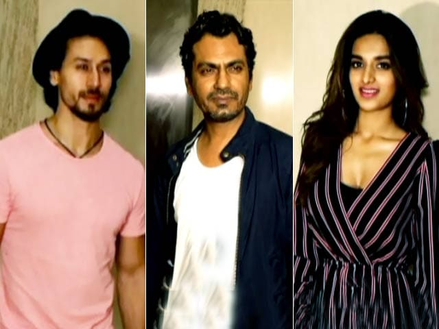 Tiger Shroff And Nawazuddin Siddiqui At  A Special Screening Of Munna Michael