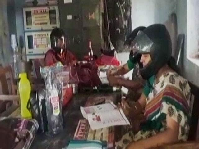 Video : Teachers In This Telangana School Wear Helmets To Highlight Poor State Of School Building