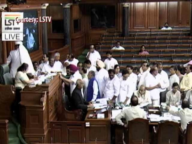 Video : 6 Congress MPs Suspended From Lok Sabha For 5 Days For Throwing Paper