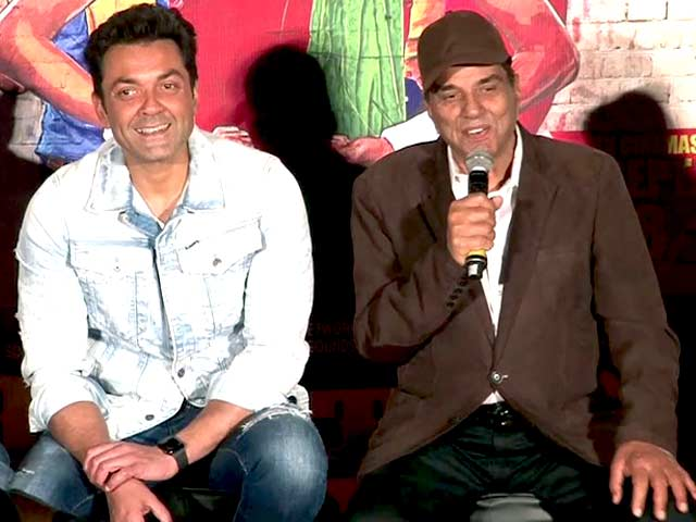Dharmendra Entertains The Media At Poster Boys Trailer Launch