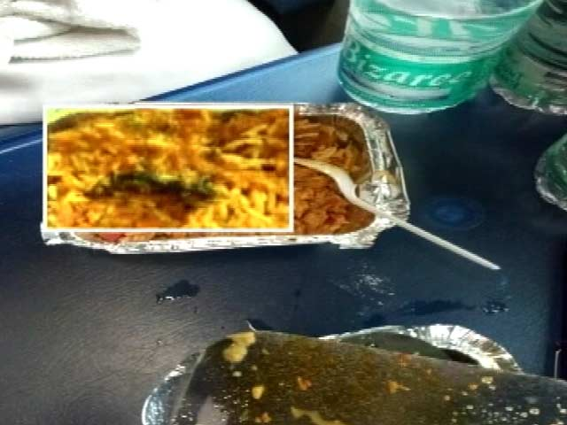 Video : Dead Lizard In Veg Biryani Served On Train, Passenger Tweets Railways Minister