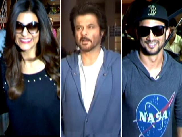 Video : Spotted: Sushmita Sen, Anil Kapoor & Sushant Singh Rajput At Mumbai Airport
