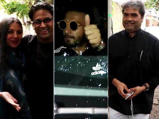 Spotted: Ranveer Singh, Shabana Azmi & Vishal Bhardwaj At A Dubbing Studio