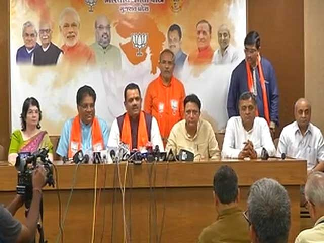 Video : In Shankersinh Vaghela Effect, Three Congress Lawmakers Quit In Gujarat, Join BJP