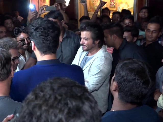 Arjun Kapoor And Anil Kapoor Meet Fans At Gaiety Cinema