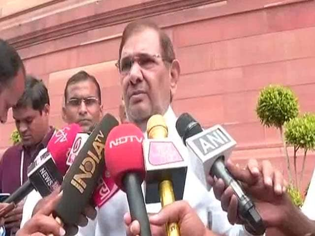 Video : Nitish Kumar's Move 'Unfortunate': Sharad Yadav Confirms He Is Not Happy
