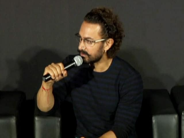 Aamir Khan At The Trailer Launch Of Secret Superstar
