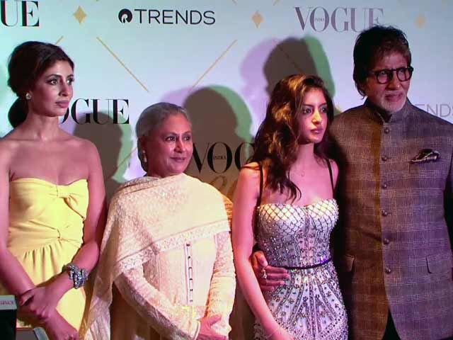 Video : Bachchans Hit The Red Carpet For The Vogue Beauty Awards