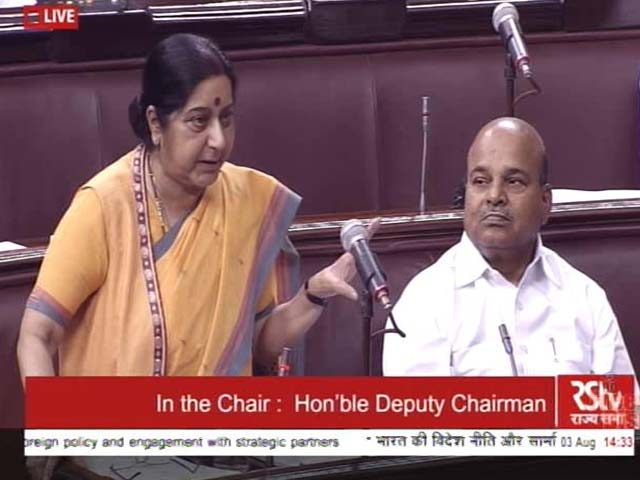 Video : Sushma Swaraj's Take To Solve Doklam Standoff, With Jibe At Rahul Gandhi