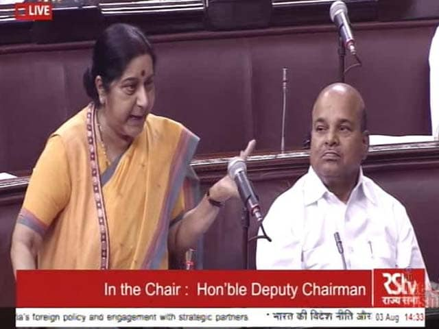 Video : War Not A Solution: Sushma Swaraj On Stand-Off With China