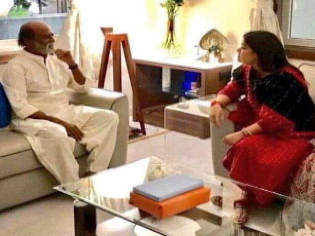 Video : रजनीकांत से मिलीं पूनम महाजन